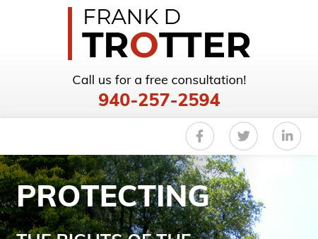 Wichita Falls TX Criminal Defense Attorney | DWI and Drug Charges Contact  Frank D. Trotter, P.C., in Wichita Falls, Texas, for experienced criminal  defense ...