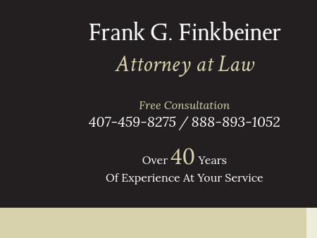 Frank G. Finkbeiner Attorney at Law