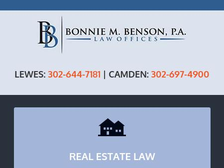 Law Offices of Bonnie M. Benson, P.A.