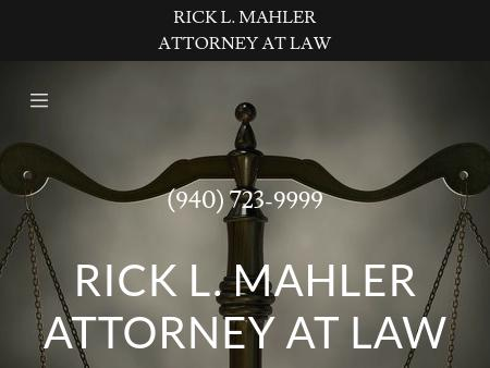 Rick L Mahler Attorney at Law Family and Criminal Law | Wichita Falls and  Burkburnett | Rick L. Mahler Attorney at Law