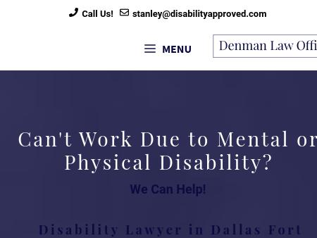 Fort Worth Social Security Disability Lawyers | Top