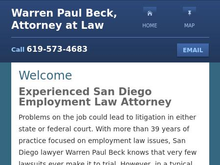 Warren Paul Beck, Attorney at Law