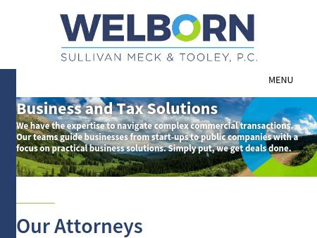 Welborn Sullivan Meck & Tooley PC