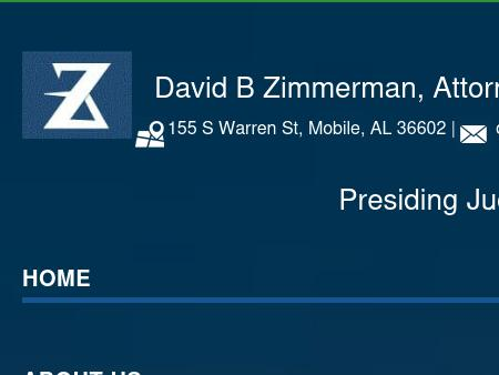 Zimmerman David B Attorney