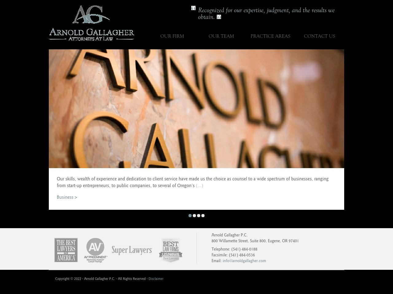Arnold Gallagher, PC - Eugene OR Lawyers