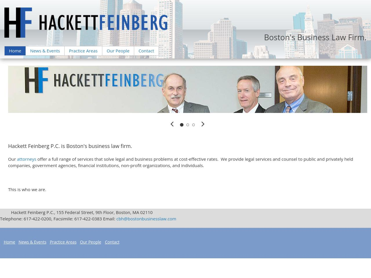 Bartlett Hackett Feinberg P.C. - Boston MA Lawyers