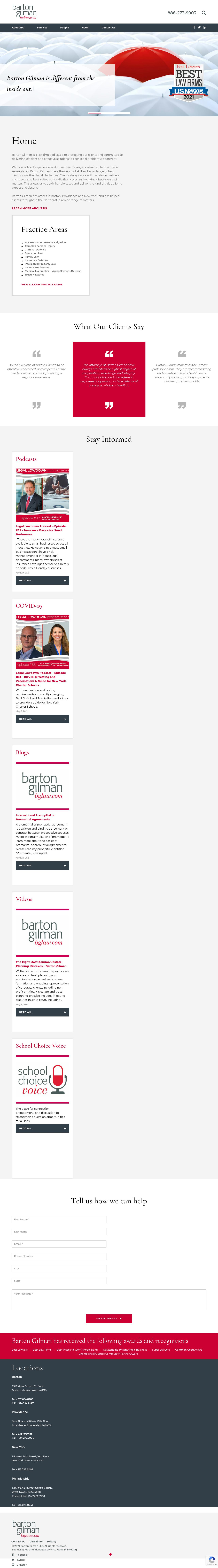 Barton Gilman LLP - Boston MA Lawyers