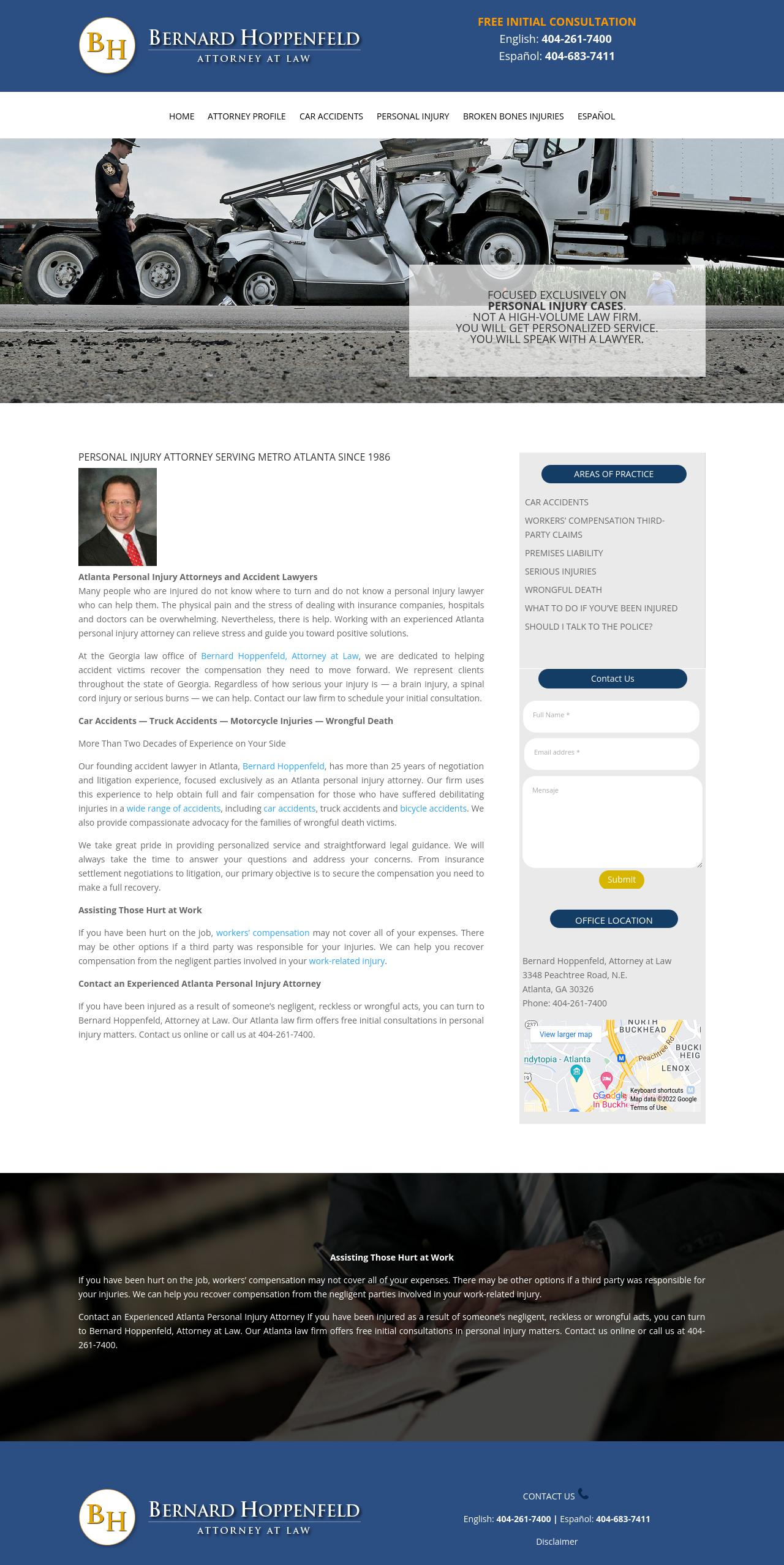 Bernard Hoppenfeld, Attorney at Law - Atlanta GA Lawyers