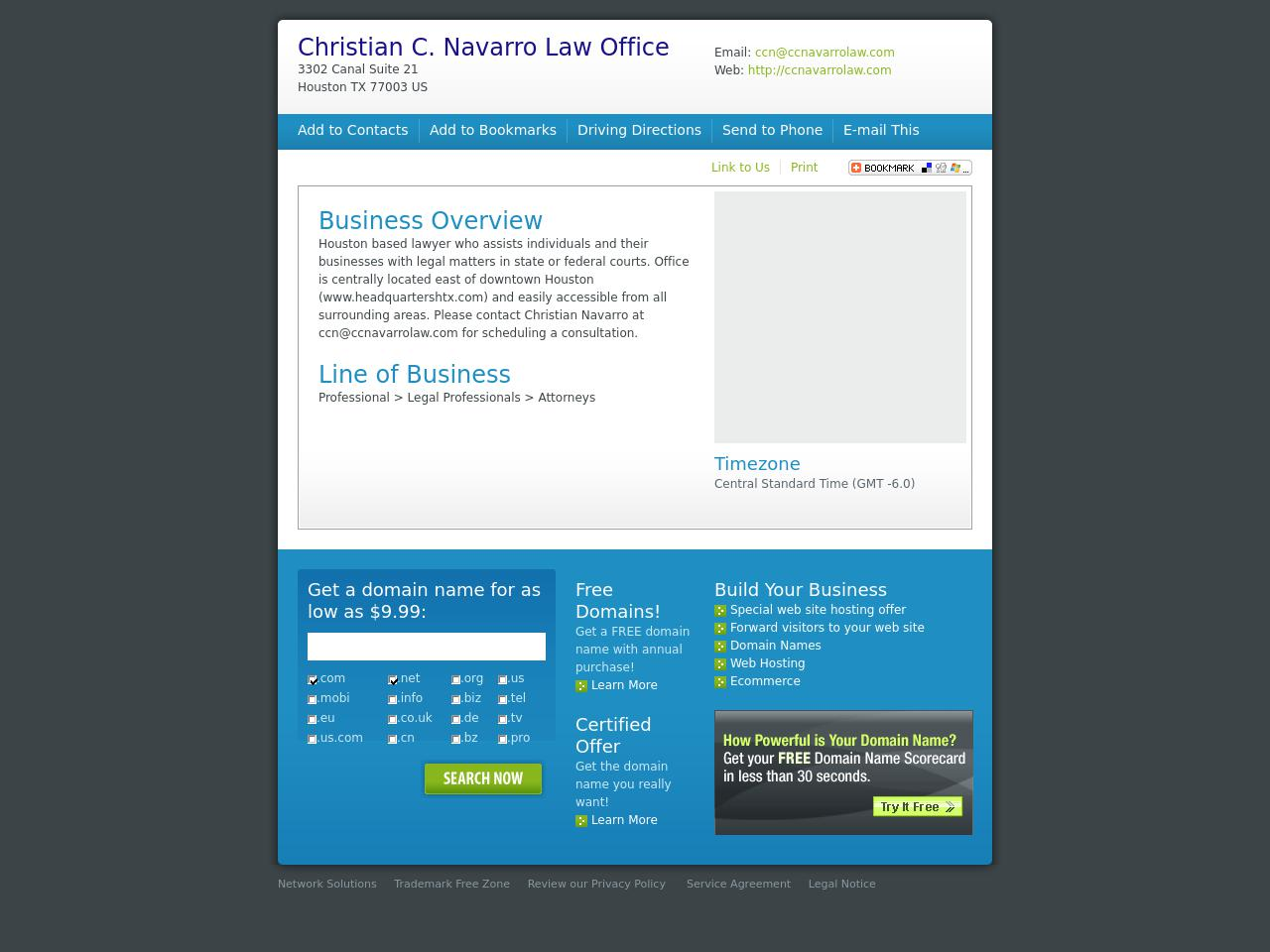 Christian C. Navarro Law Office - Houston TX Lawyers