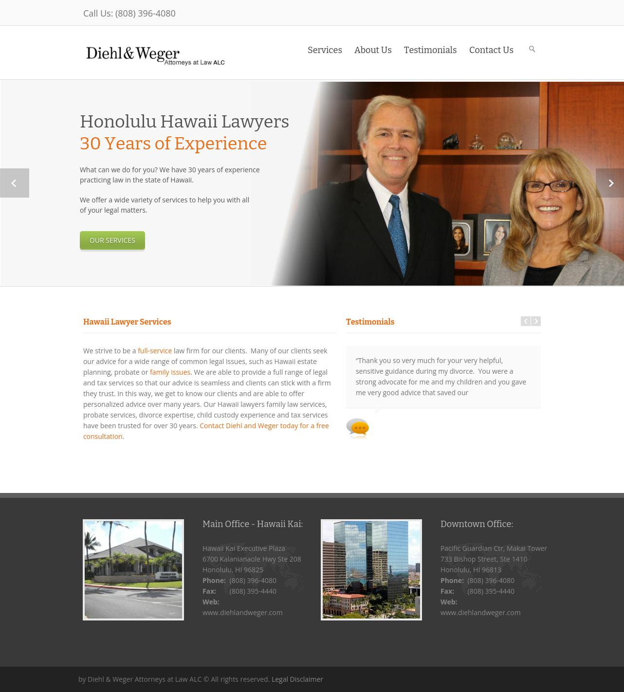 Diehl And Weger Attorneys At Law-A Law Corporation - Honolulu HI Lawyers