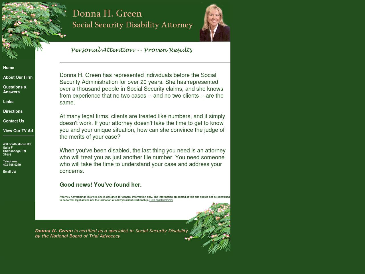 Green, Donna H Attorney At Law PLLC - Chattanooga TN Lawyers