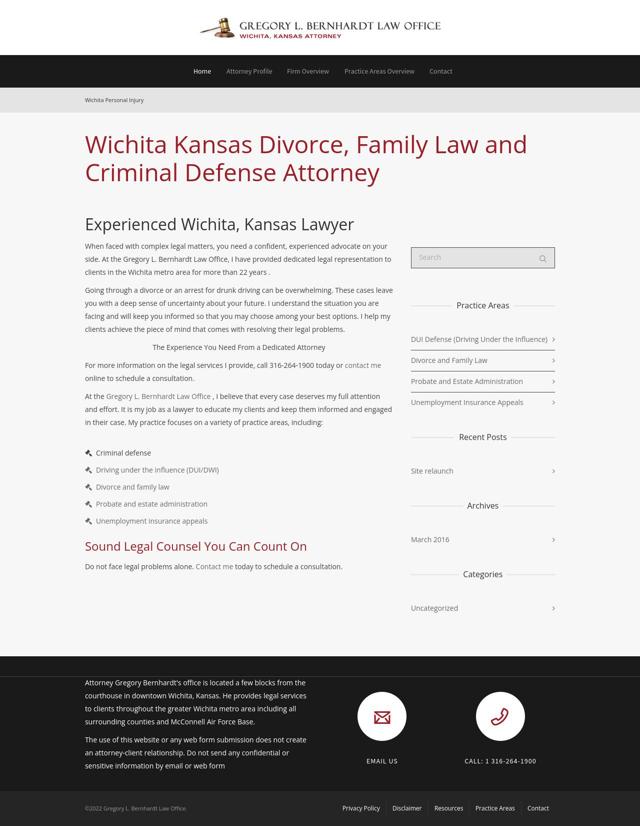 Gregory L. Bernhardt Law Office - Wichita KS Lawyers