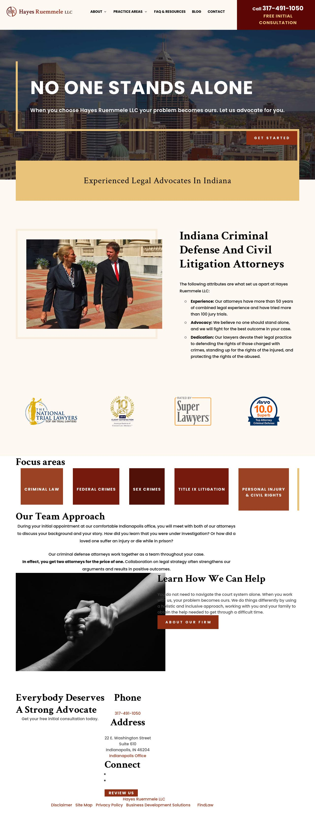 Hayes Ruemmele LLC - Indianapolis IN Lawyers