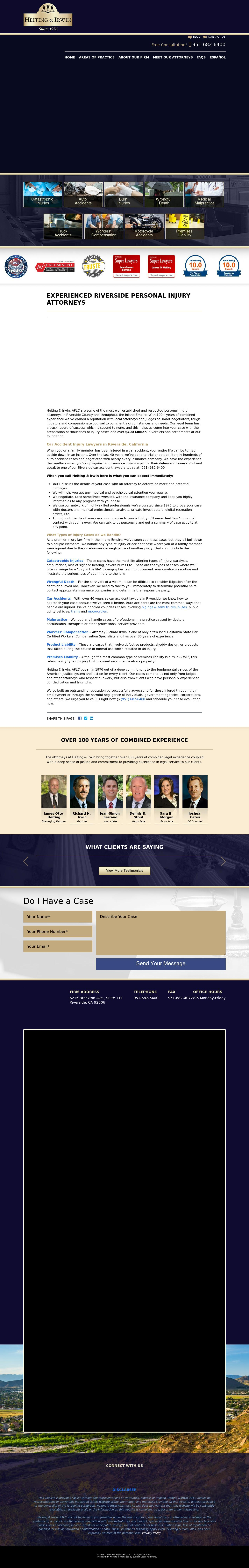 Heiting & Irwin-A Professional Law Corporation - Riverside CA Lawyers