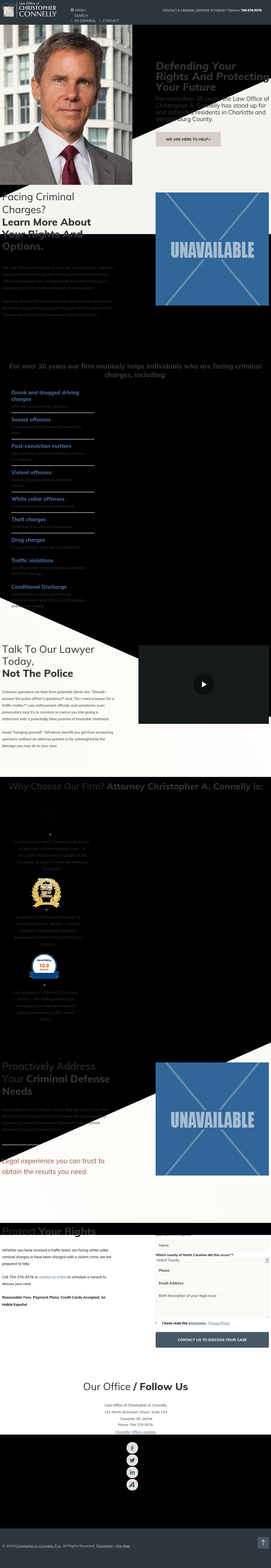 Law Office of Christopher A. Connelly - Charlotte NC Lawyers