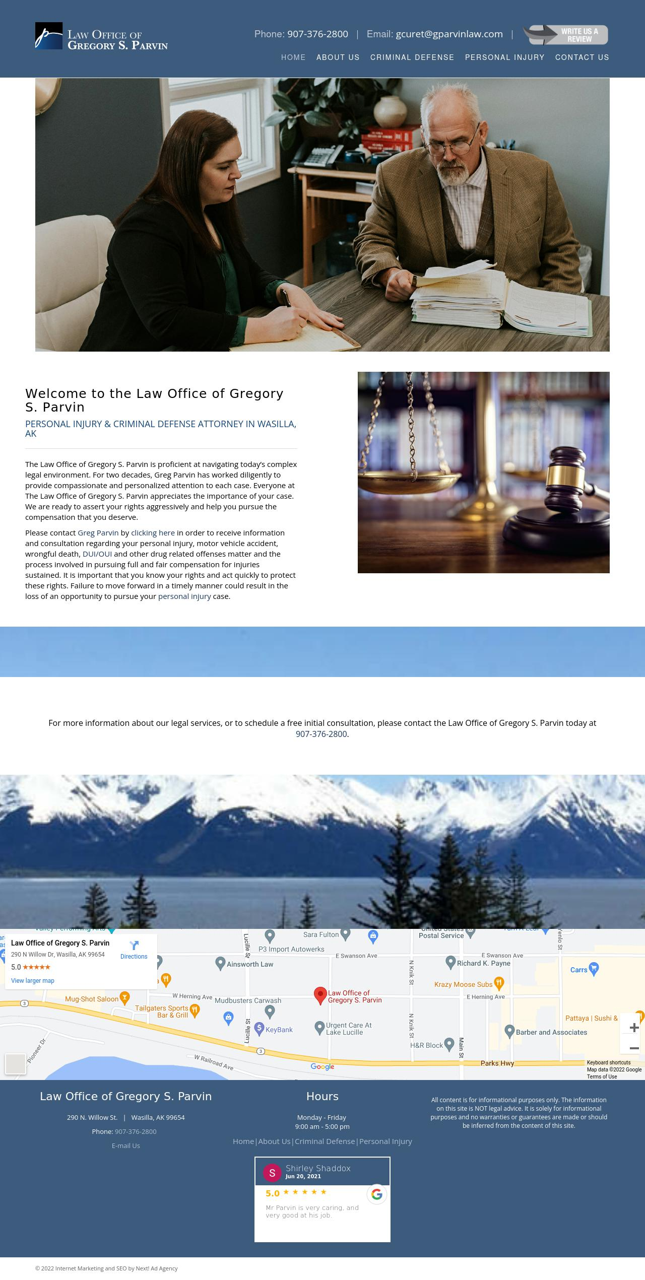 Law Office of Gregory S. Parvin - Wasilla AK Lawyers