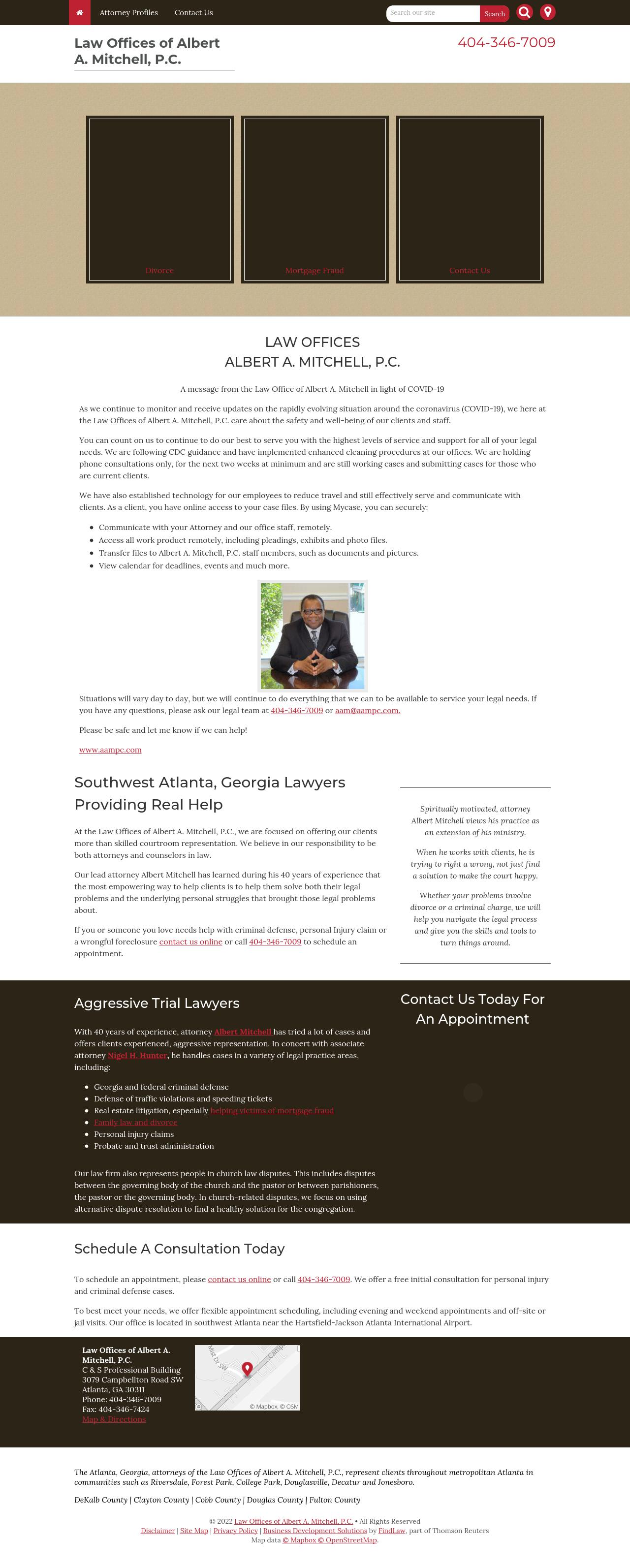 Law Offices of Albert A. Mitchell, P.C. - Atlanta GA Lawyers