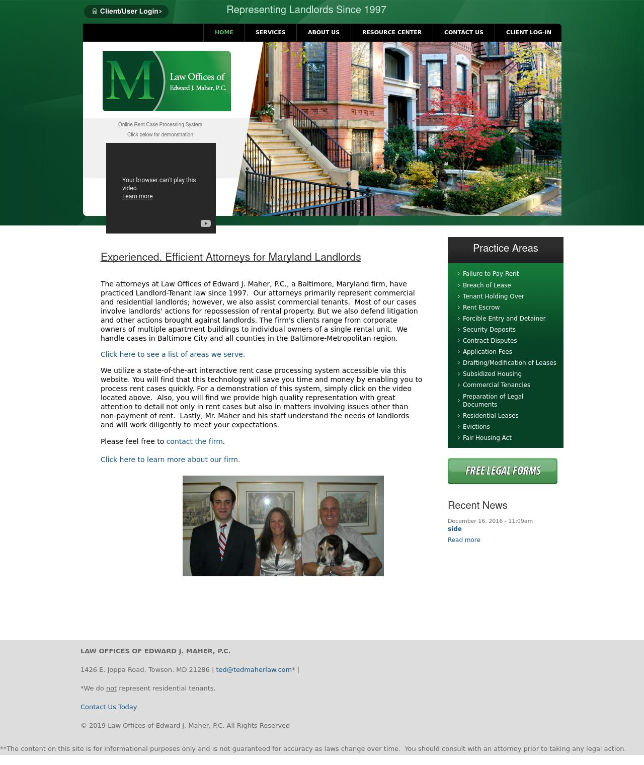 Law Offices of Edward J. Maher, P.C. - Baltimore MD Lawyers