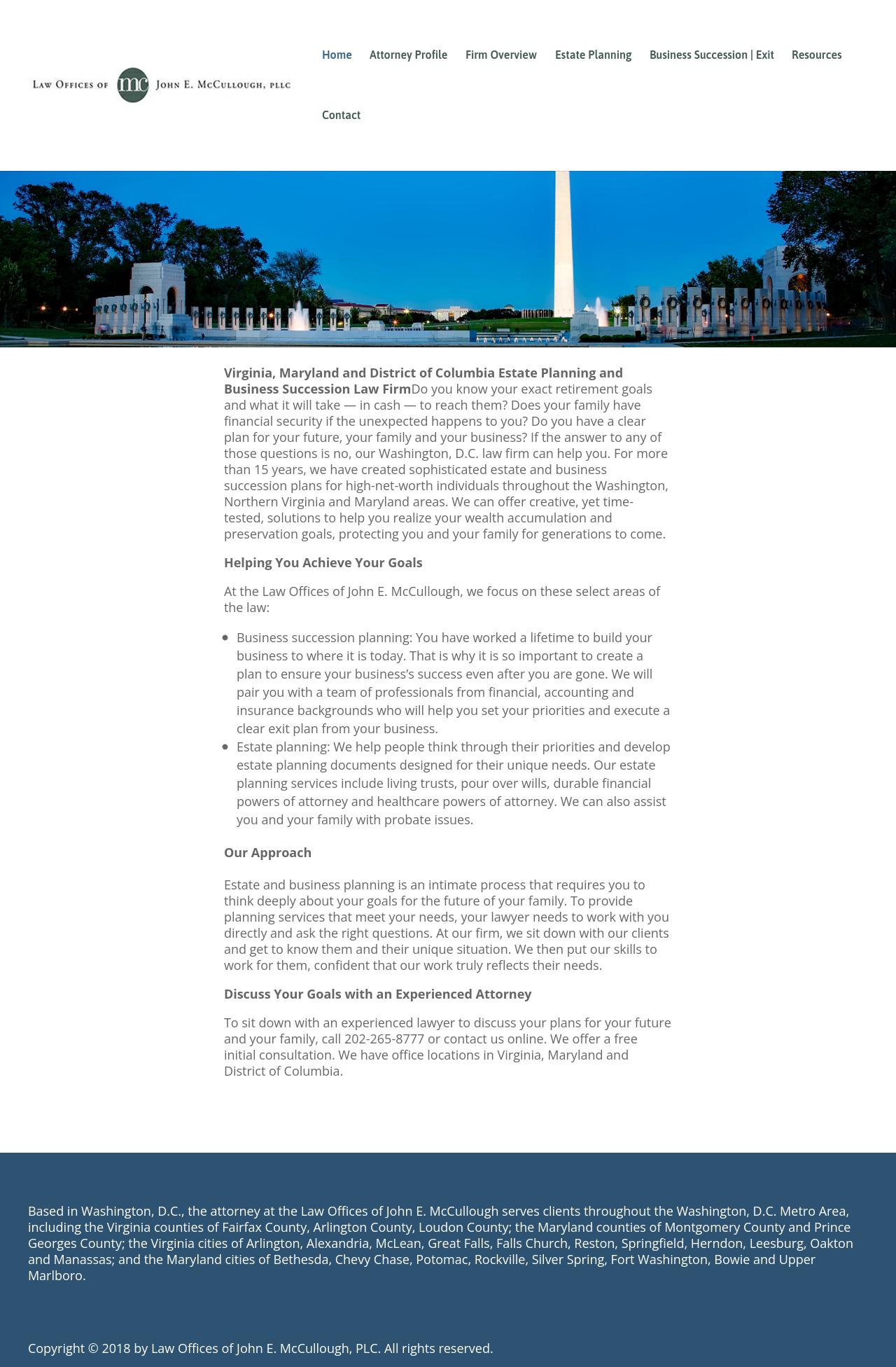 Law Offices of John E. McCullough, PLC - Washington DC Lawyers