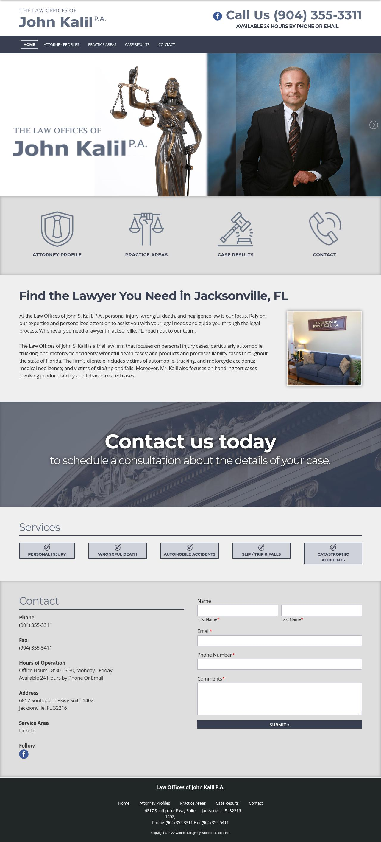 Law Offices of John S Kalil PA - Jacksonville FL Lawyers