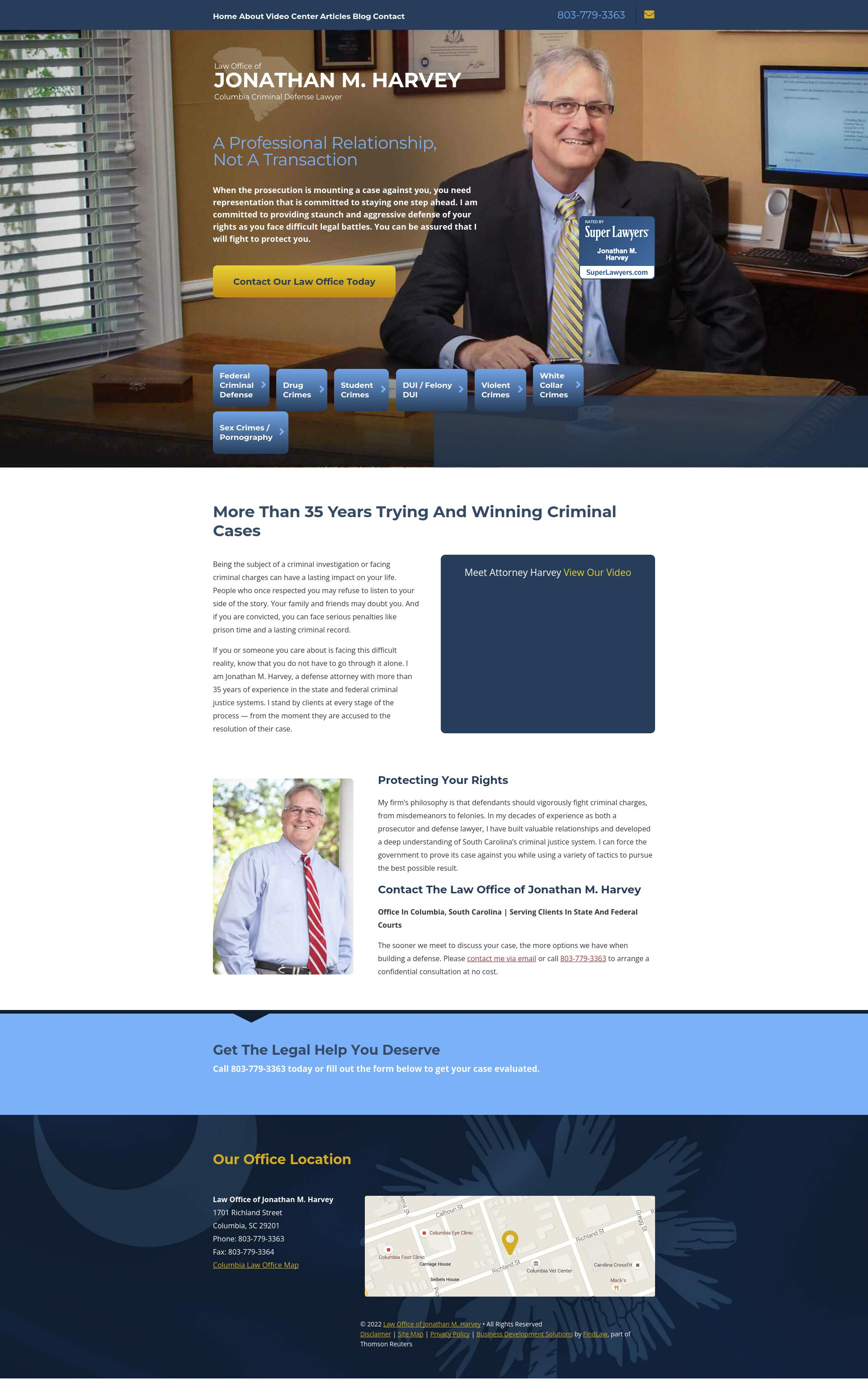 Law Offices of Jonathan M. Harvey - Columbia SC Lawyers