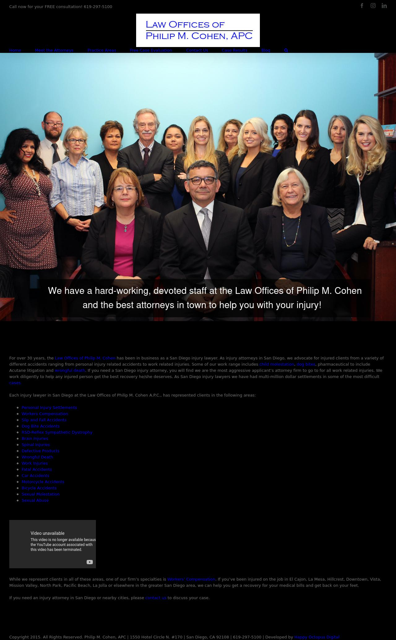 Law Offices of Philip M. Cohen, APC - San Diego CA Lawyers