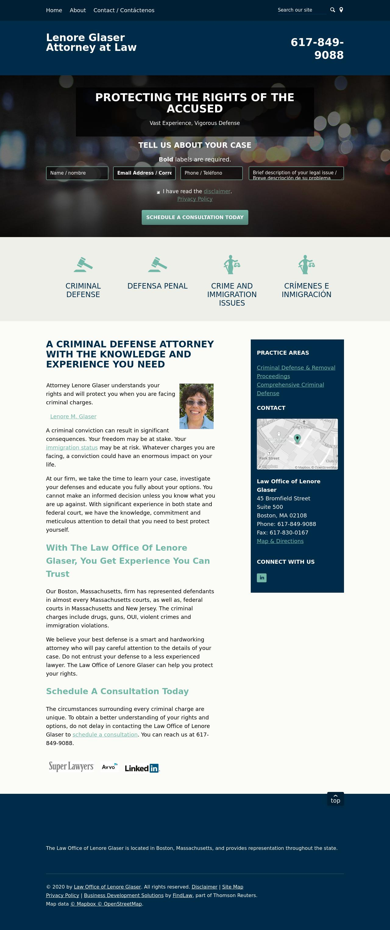 Lenore Glaser - Boston MA Lawyers