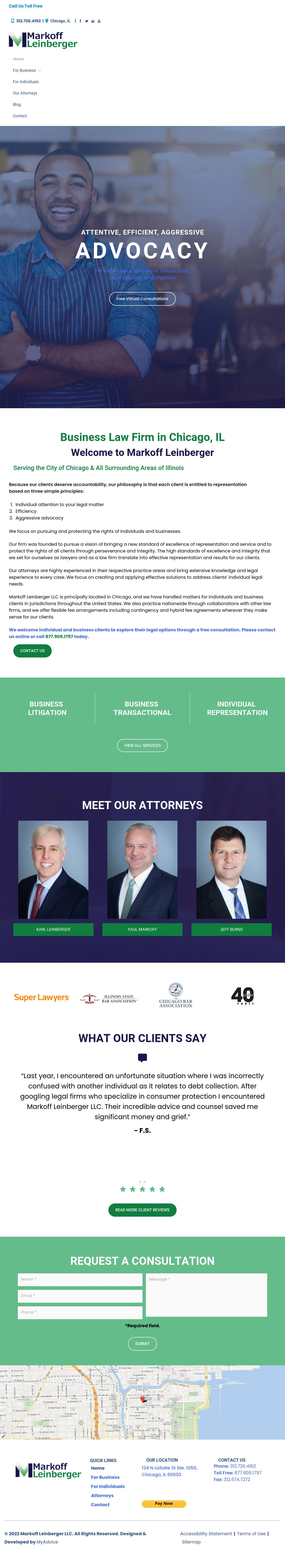 Markoff Leinberger, LLC - Chicago IL Lawyers