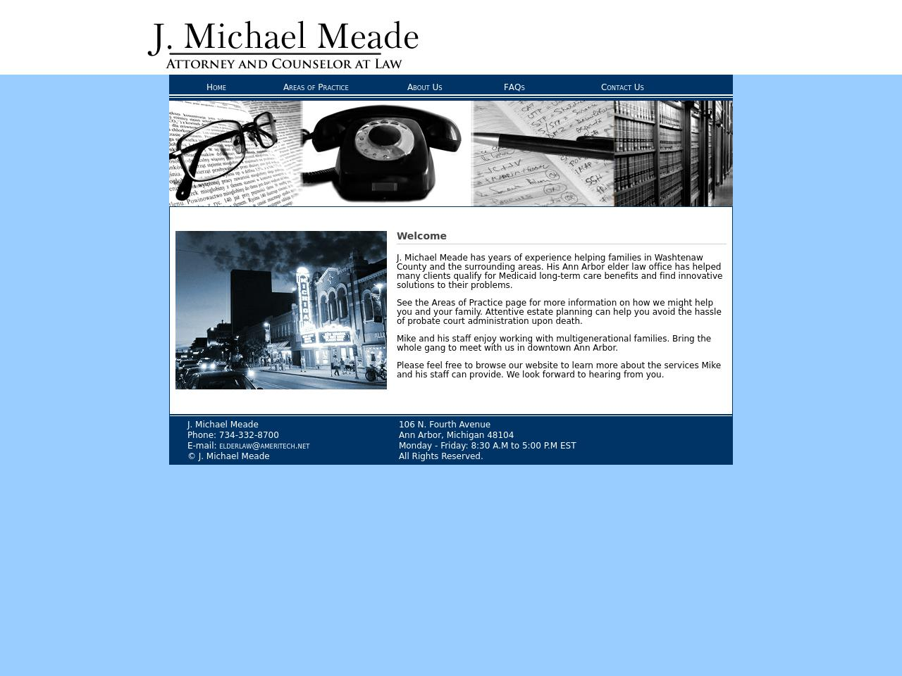 Meade, J Michael - Ann Arbor MI Lawyers