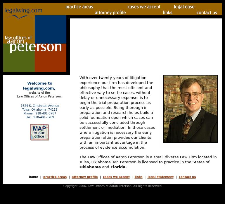 Aaron C. Peterson, Attorney at Law - Tulsa OK Lawyers