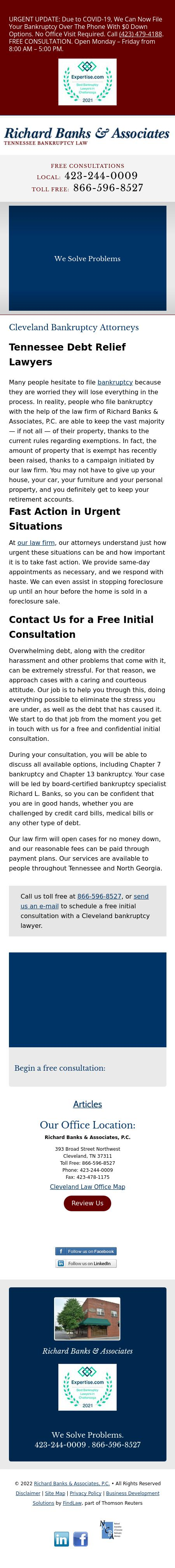 Banks Richard L & Associates - Cleveland TN Lawyers