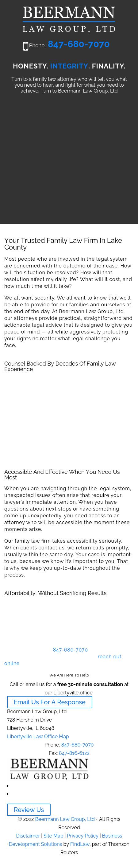 Beermann Law Group, Ltd - Libertyville IL Lawyers