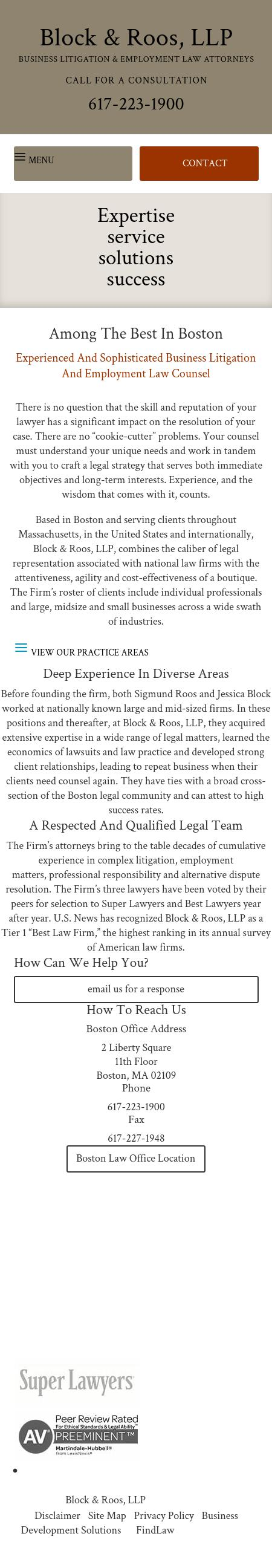 Block & Roos, LLP - Boston MA Lawyers