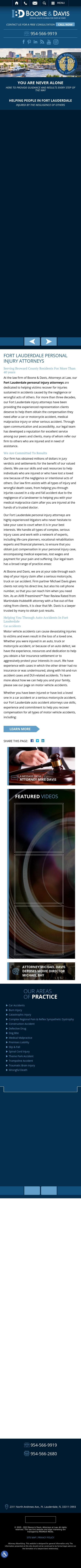 Boone & Davis, Attorneys at Law - Fort Lauderdale FL Lawyers
