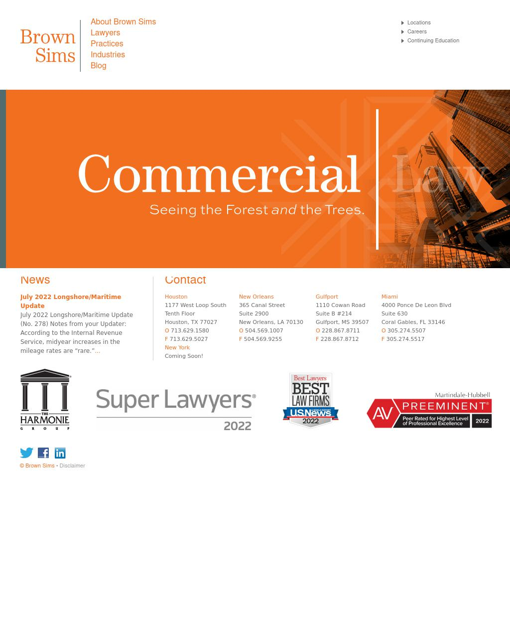 Brown Sims, P.C. - Miami FL Lawyers