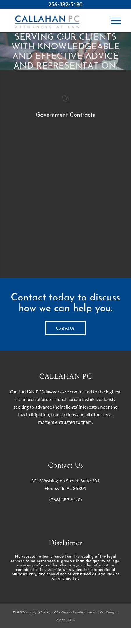 Callahan PC Attorneys At Law - Huntsville AL Lawyers