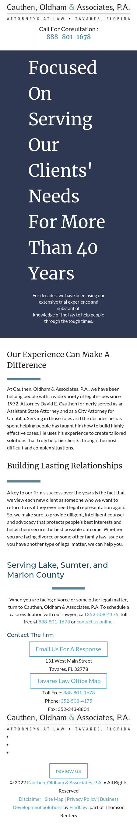 Cauthen, Oldham & Associates, P.A. - Tavares FL Lawyers