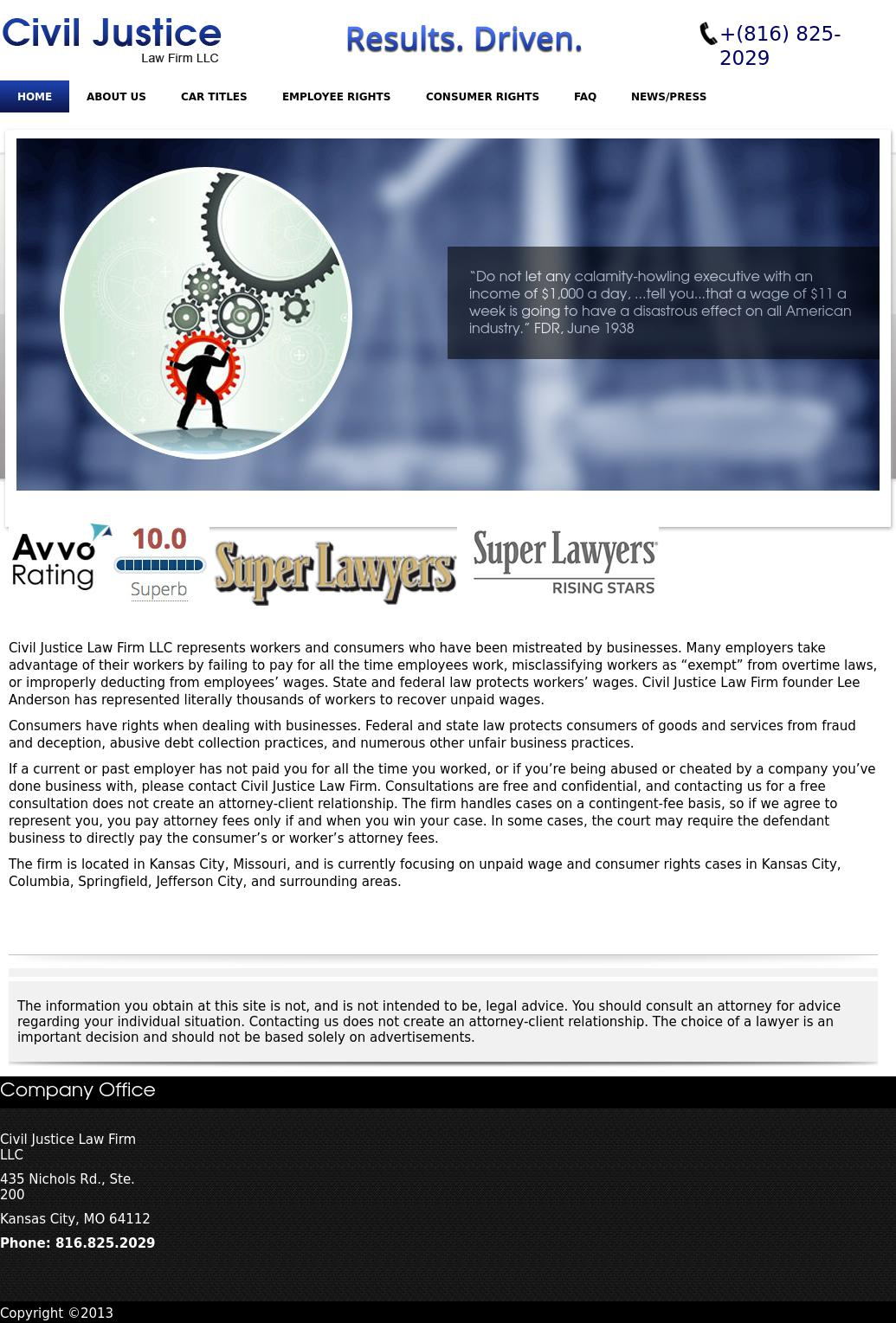 Civil Justice Law Firm LLC - Kansas City MO Lawyers