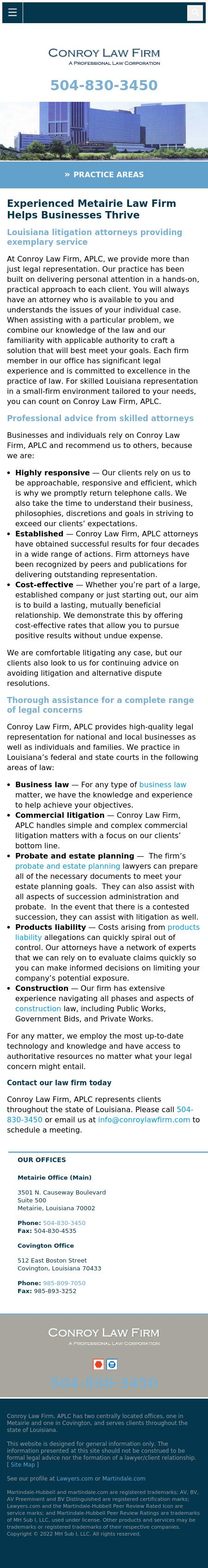 Conroy Law Firm - Covington LA Lawyers