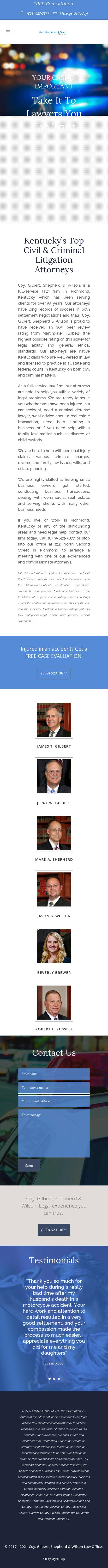 Coy, Gilbert & Gilbert Law Offices | Richmond KY Law | LawyerLand