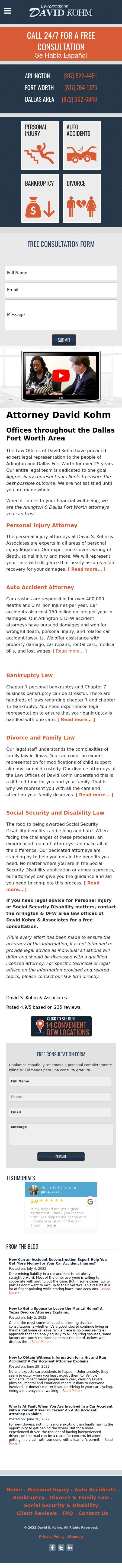 David S Kohm & Associates - Arlington TX Lawyers