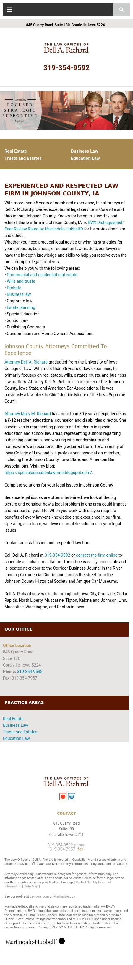 Dell A Richard - Coralville IA Lawyers