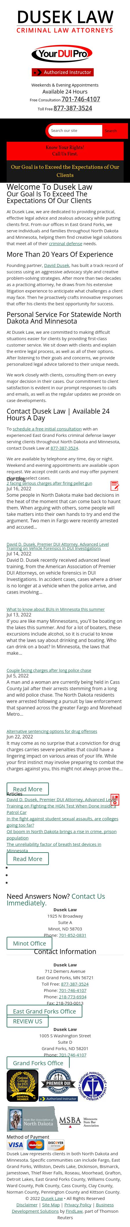 Dusek Law - Grand Forks ND Lawyers