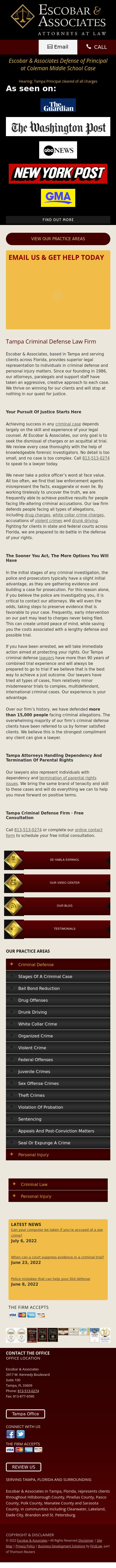 Escobar & Associates - Tampa FL Lawyers