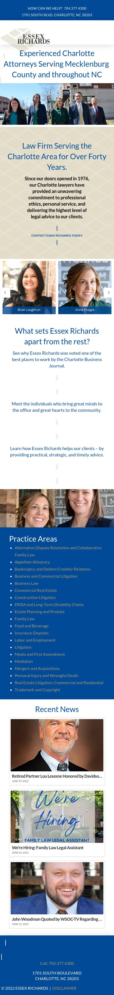 Essex Richards, P.A. - Charlotte NC Lawyers