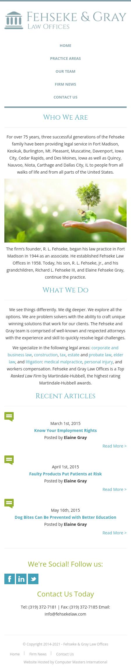 Fehseke and Gray - Fort Madison IA Lawyers