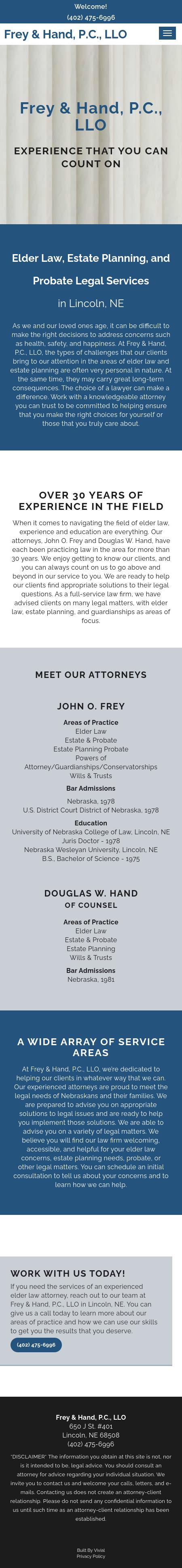 Frey & Hand - Lincoln NE Lawyers