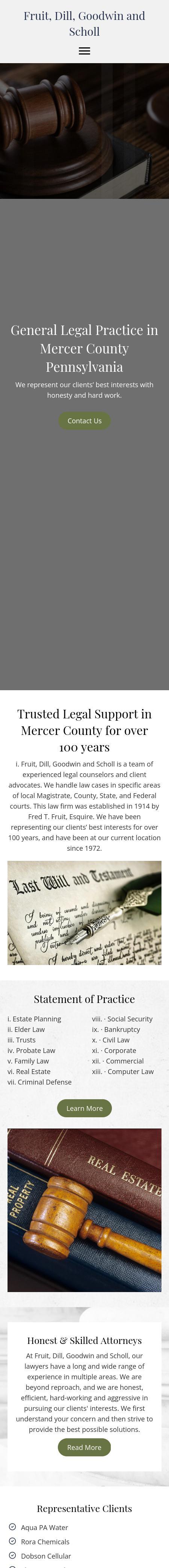 Fruit, Dill, Goodwin & Scholl | Sharon PA Law | LawyerLand