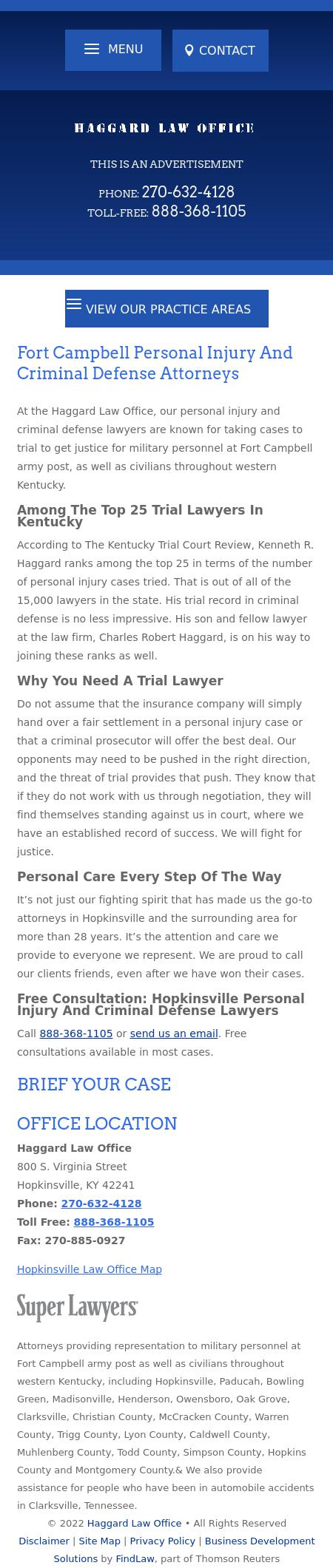 Haggard Law Office - Hopkinsville KY Lawyers