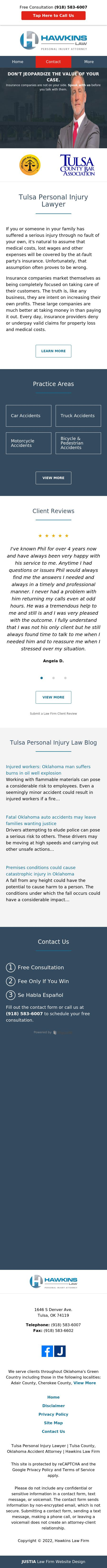 Hawkins Law Firm - Tulsa OK Lawyers